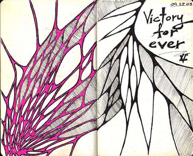 sketches magenta-black-design