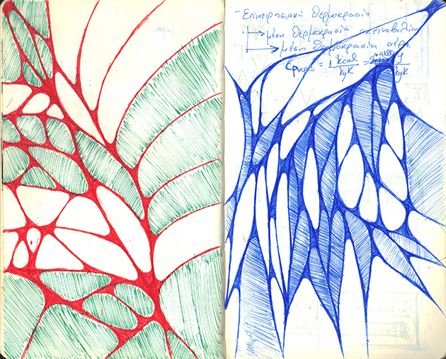 sketches red-blue-design