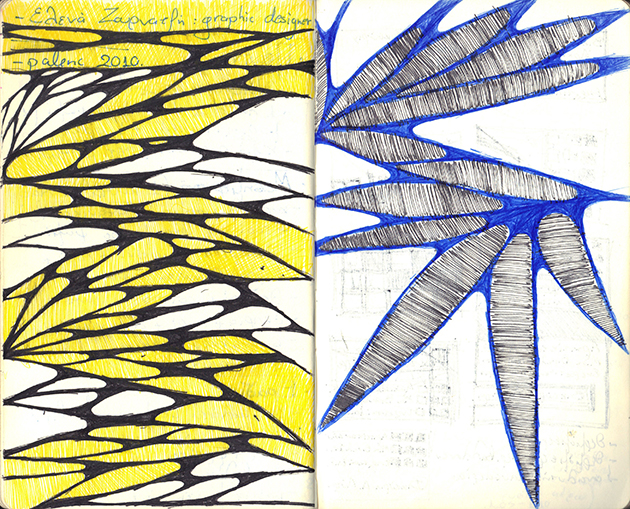 sketches yellow-blue-design