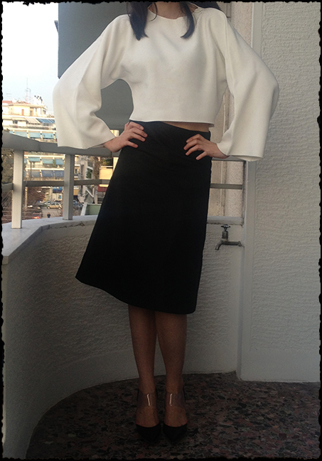 black-skirt-white-cropped