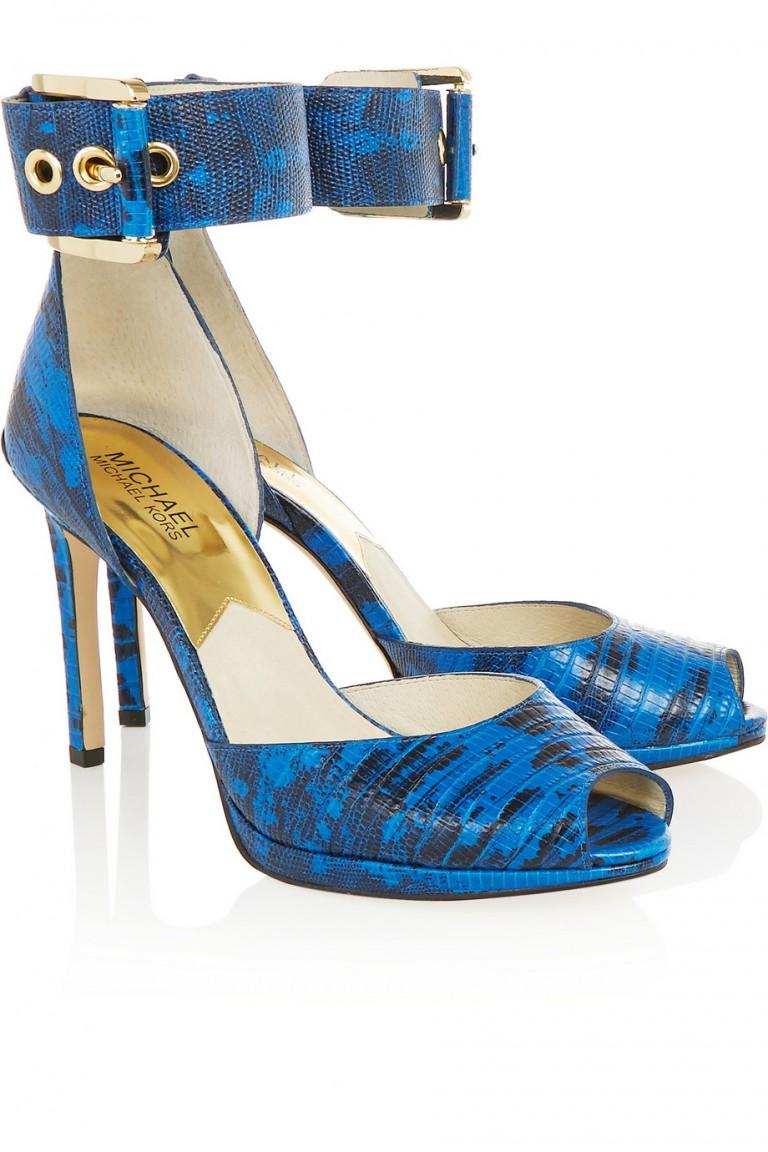 Michael Kors blue sandals