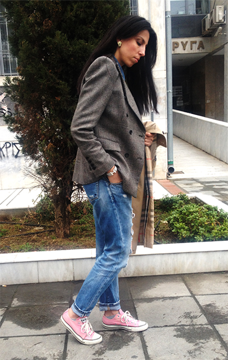 checked-blazer-loose-jeans2