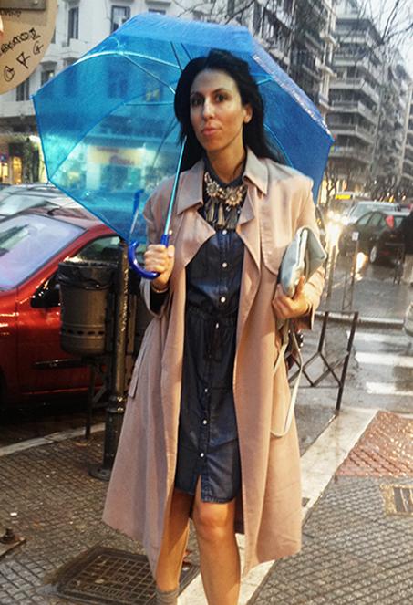 stefanel-raincoat-denim-shirtdress