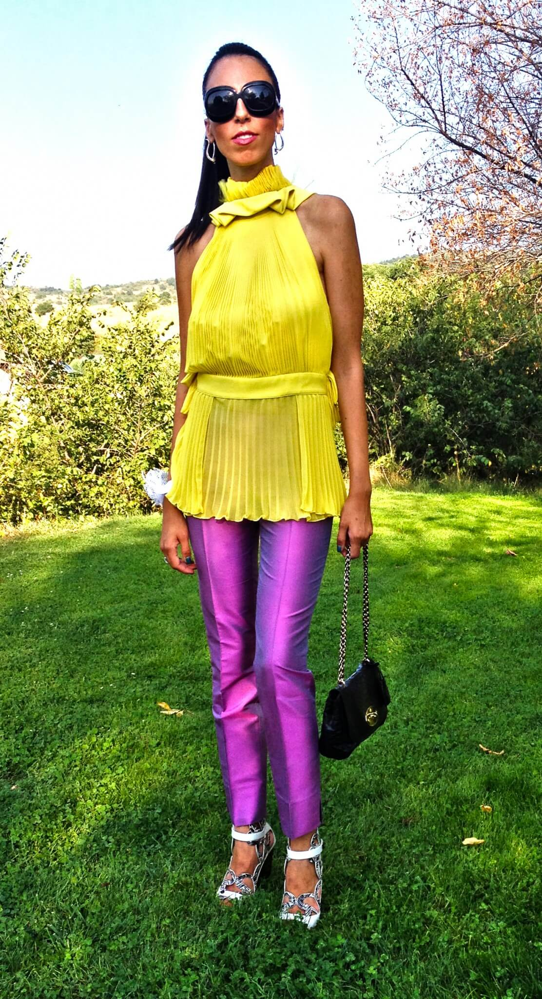 Colorblocking party look - Form Follows Fashion - photo#47