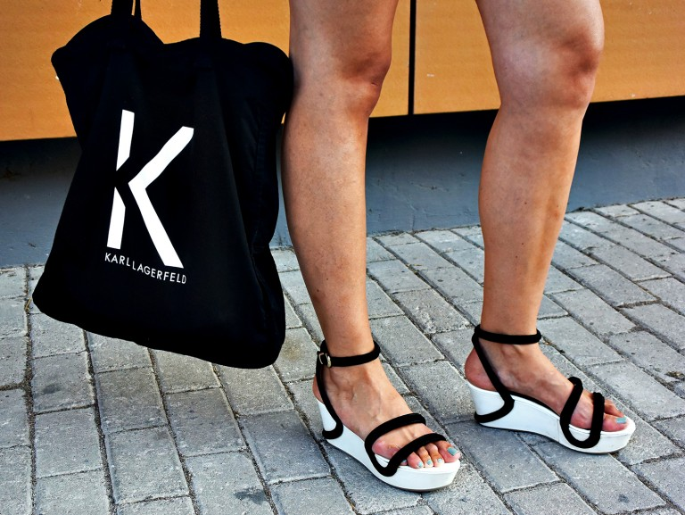 armani-sandals-lagerfeld-bag