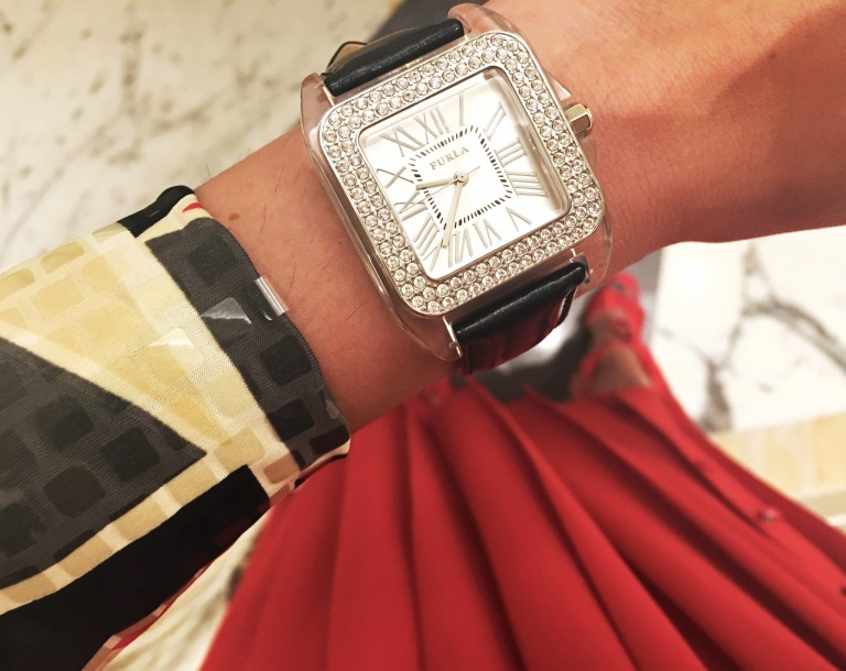 furla crystal watch