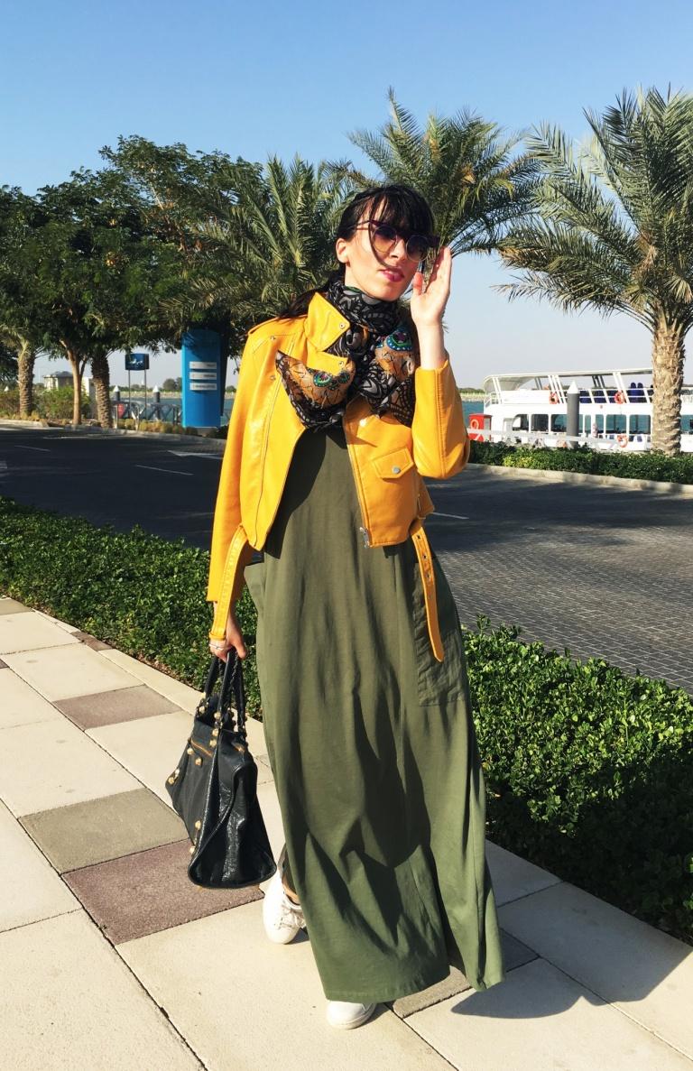 khaki buggy dress1