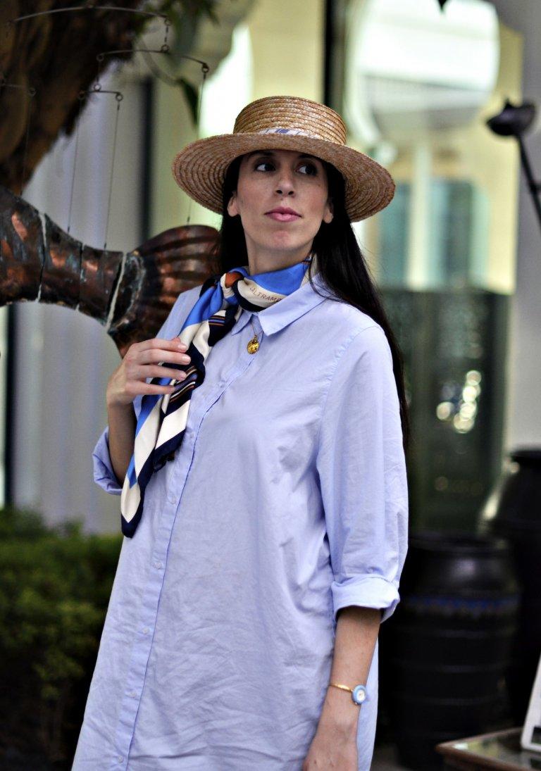 Shirtdress-scarf-hat-macro3