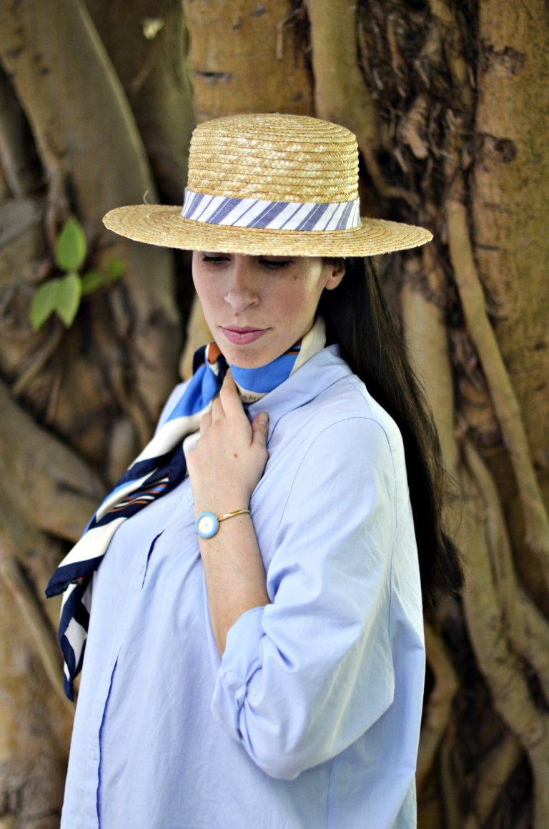 shirtdress-scarf-hat-macro1