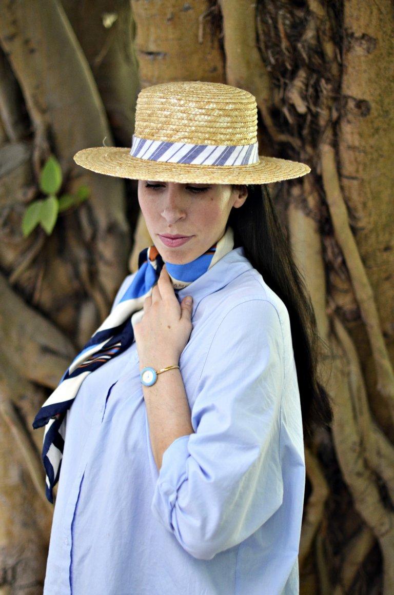 shirtdress-scarf-hat-macro1