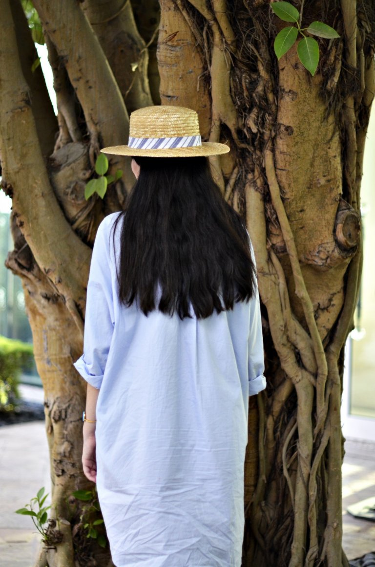 shirtdress-scarf-hat-macro2