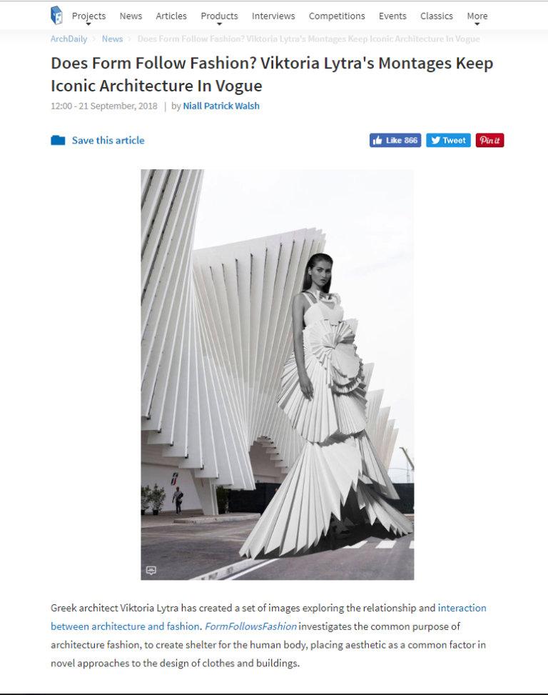 Press - Form Follows Fashion